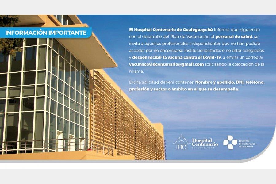 Comunicado para profesionales de la salud de Gualeguaychú
