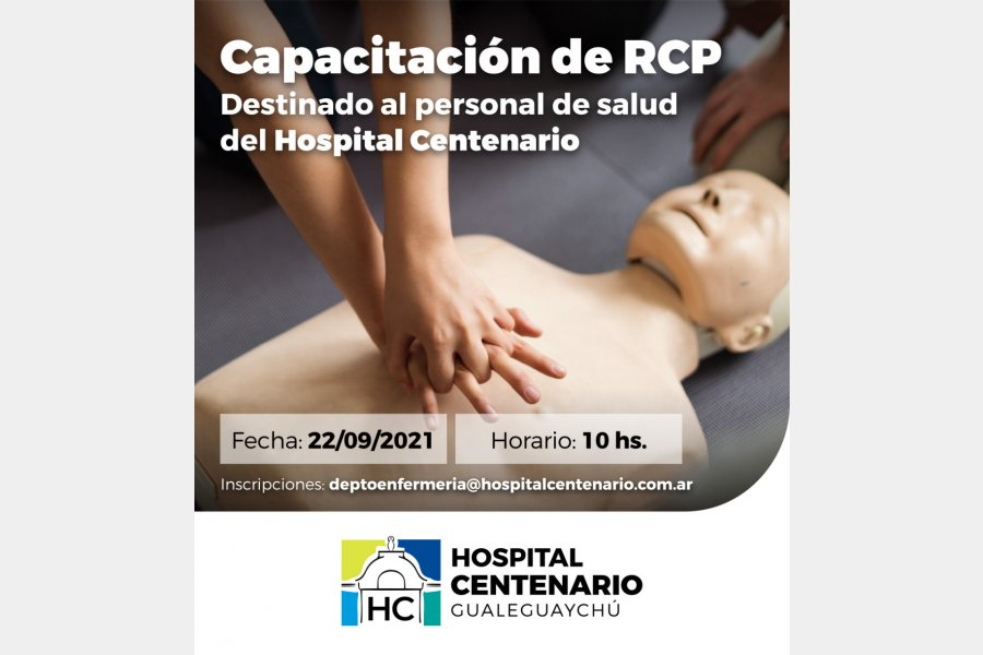 Capacitación de RCP en el Hospital Centenario