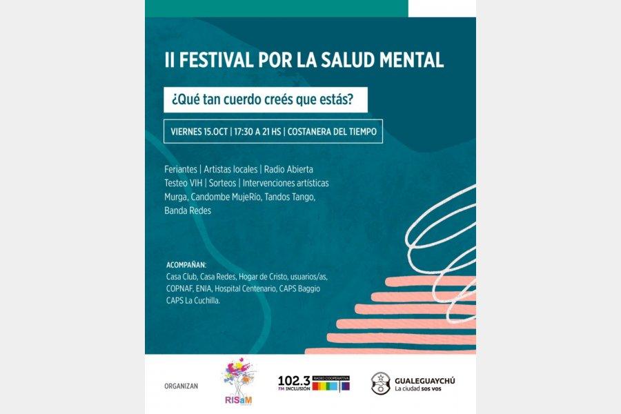 Este viernes disfrutá del II Festival por la Salud Mental en la Costanera del Tiempo