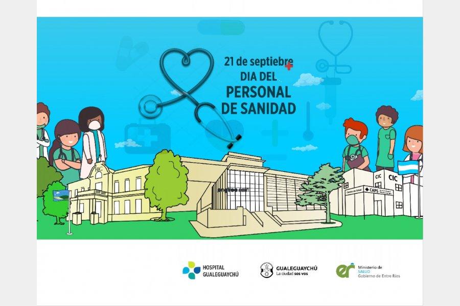 El Hospital Gualeguaychú saluda a todo el Personal de la Sanidad en este día tan especial